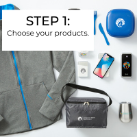 New employee welcome kit step 1: Choose your products