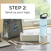 New employee welcome kit step 2: Send us your logo
