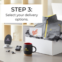 New employee welcome kit step 3: Select your delivery options